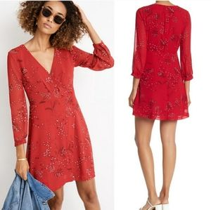 Madewell Hazlewood Wrap Mini Dress